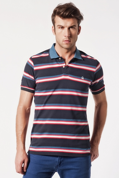 Striped Pique Polo Shirts
