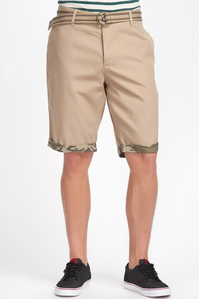 Belted Cotton Shorts