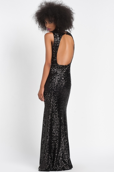 Sequin Dress Sirte Decolletage