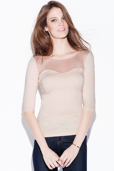 Elisa Transparent Detail Blouse
