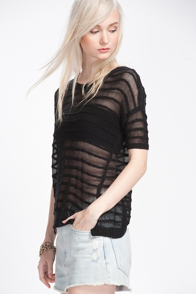 Stripe Round Neck Blouse
