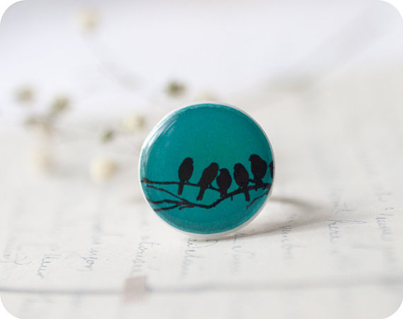 Birds On Branch Ring
