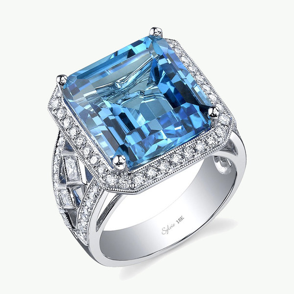 Blue diamond ring sample
