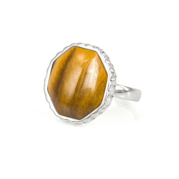 Deco Keystone Ring - Otta Tiger Eye