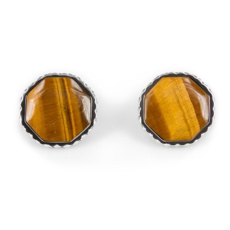 Deco Keystone Earrings - Otta Tiger Eye