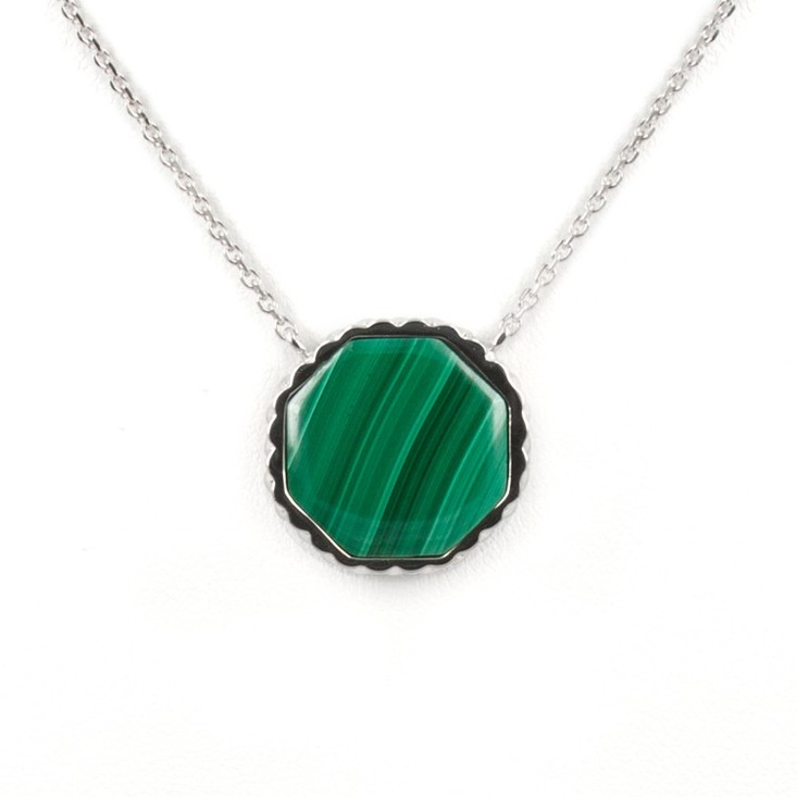 Deco Keystone Necklace - Otta Malachite