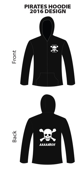 Pirates 2016 Zip-Up Hoodies