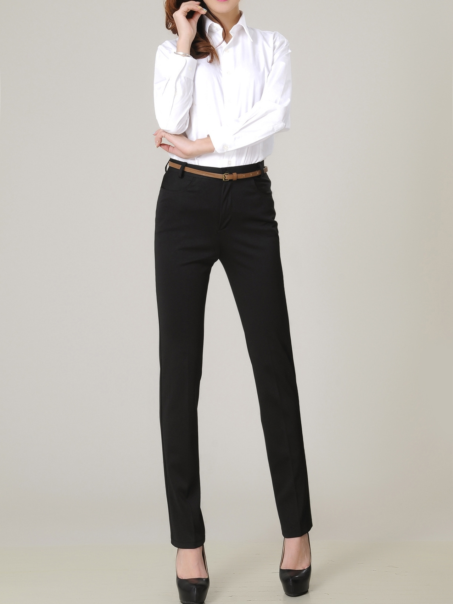 Lyde Business Office Straight Pants