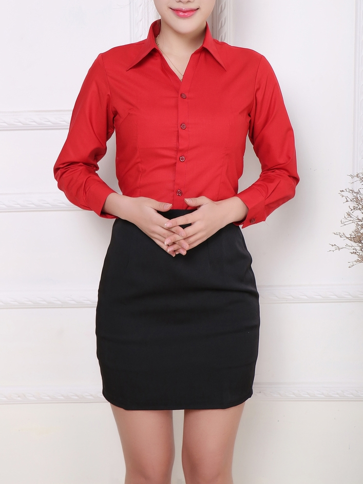 Red Sleek Business Shirt (2 Lengths)