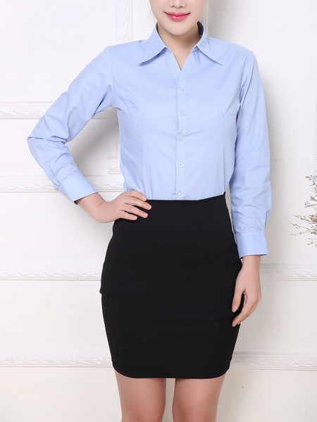 Light Blue Sleek Business Shirt