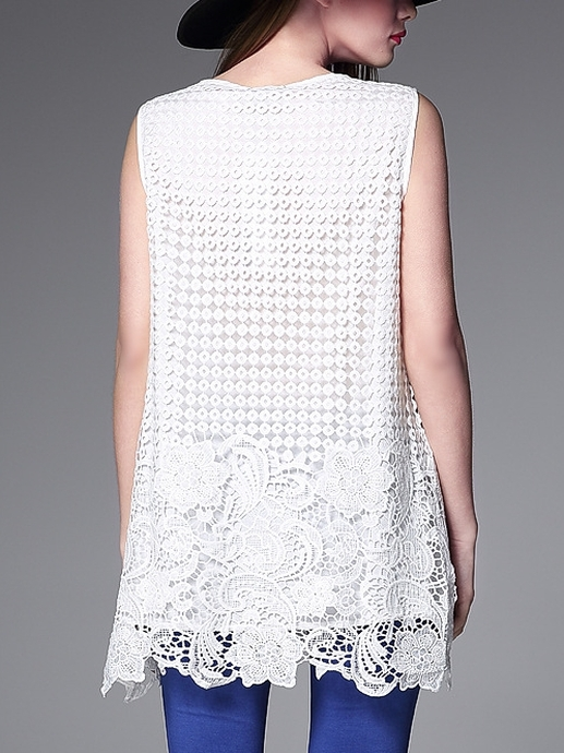 Lips are Moving Crochet Lace Tunic