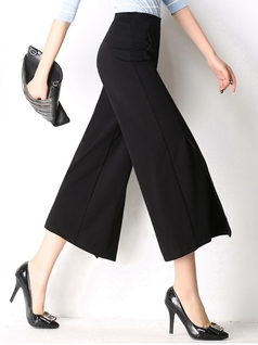 Wide leg Slit Culotte Pants (M-6XL)