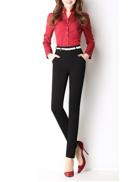 Straight Formal Skinny Pants