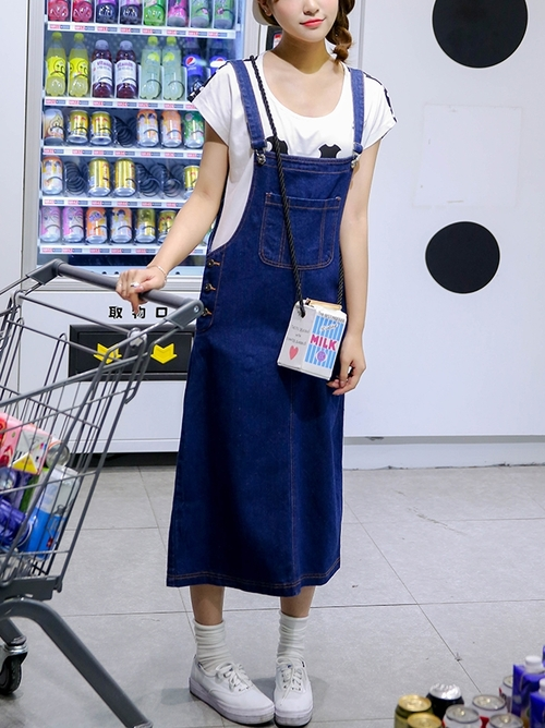 Long Denim Overall Dress (EXTRA BIG!)