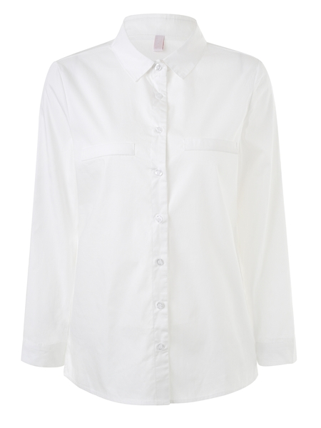 Crisp White Long-sleeve Shirt (EXTRA BIG SIZE!) [Ready Stock Available]