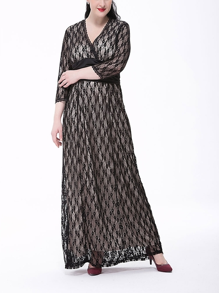 Larden Evening Maxi Dress (EXTRA BIG) (2 COLOUR)