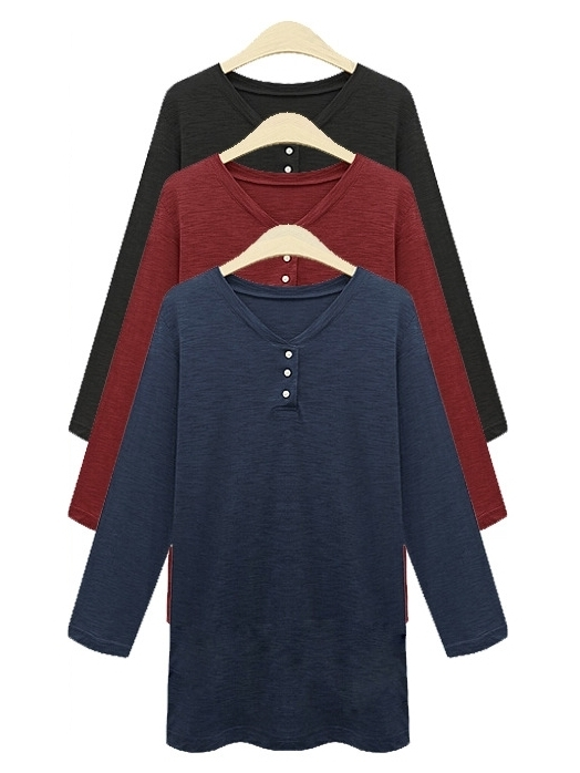 Basic Henley L/s Top
