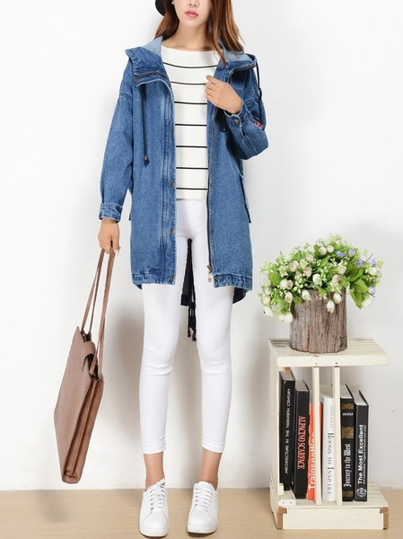 Denim Oversize Tunic Jacket