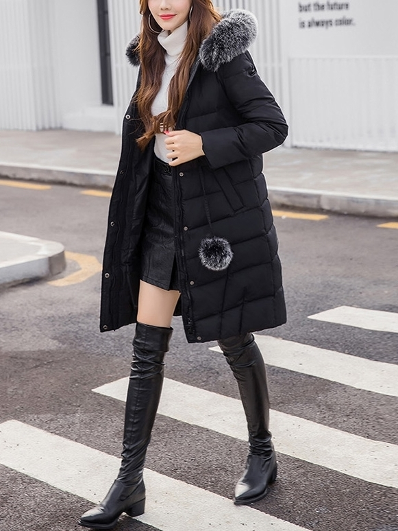 Macaroon Pad Winter Long Jacket