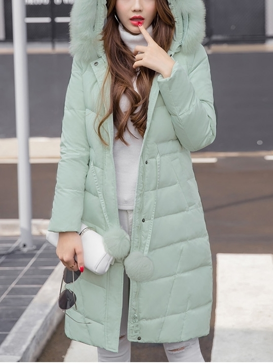 (Stay Super WARM in Winter!) Macaroon Pad Winter Long Jacket