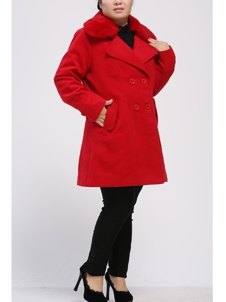 Fur-collar Long-length Winter Jacket Coat (EXTRA BIG SIZE!)