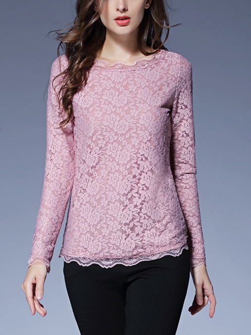 Fur-Inner Lace L/s Top