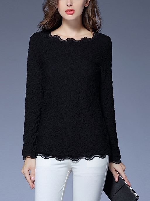 Fur-Inner Lace L/s Top (2 Colour)