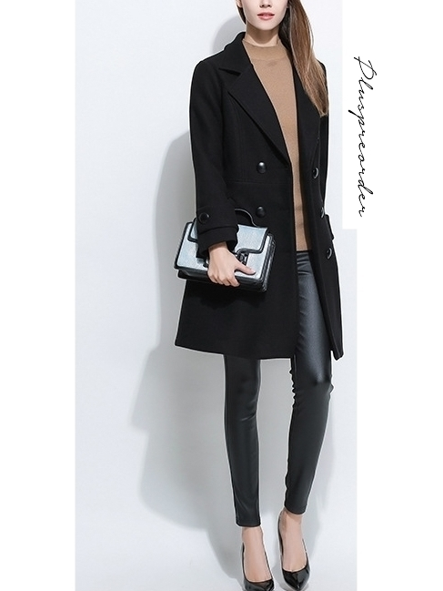 Winter Big Button Smart Jacket Coat