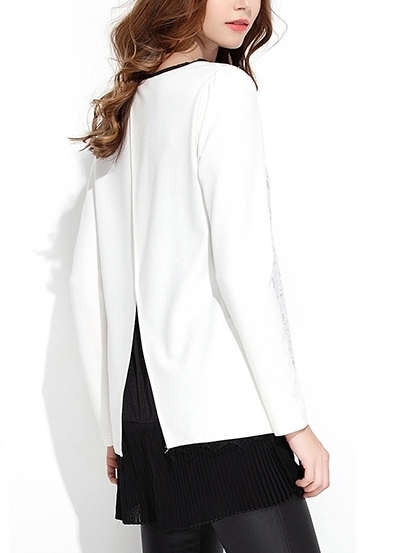 Attract Open-back Lace Blouse
