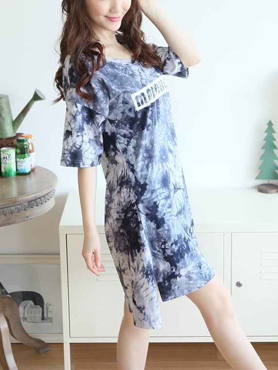 Tie Dye T Dress (EXTRA BIG SIZE)