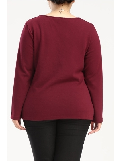 V-neck Winter Fleece L/s Top (EXTRA BIG SIZE!)