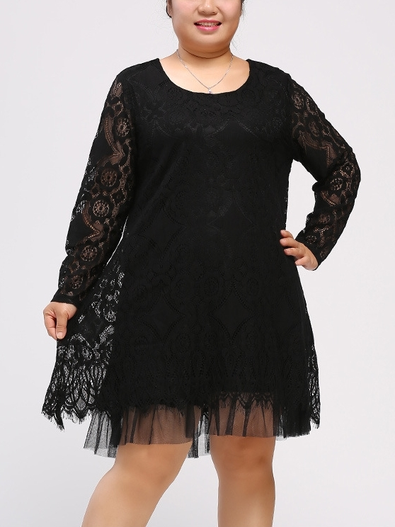 Reliss Lace Tulle L/s Dress