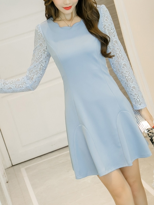 Rita Scallop L/s Dress
