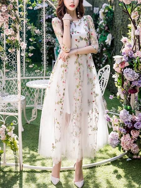 Garden of Eden Tulle Maxi Dress