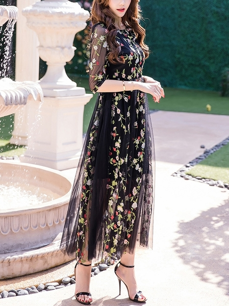 Garden of Eden Tulle Maxi Dress (S-XXXXL)