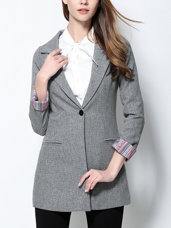 Layered Grey Long Blazer