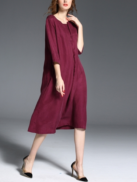 Plumm Loose Silk Dress (L-XXXXXL)