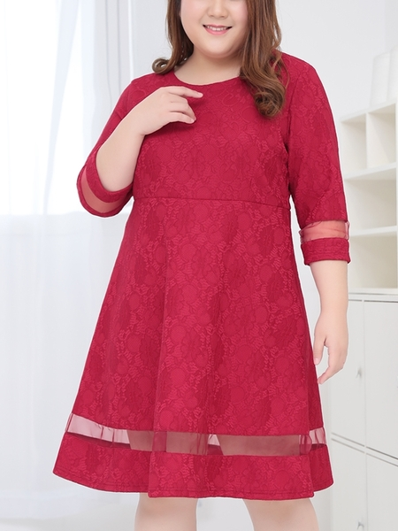 Dela Lace Dress (EXTRA BIG SIZE!)