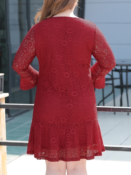 Mella Lace Dress (Red)