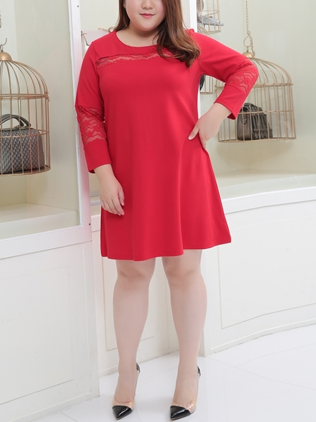 Ferdyna Lace Dress  (Red)