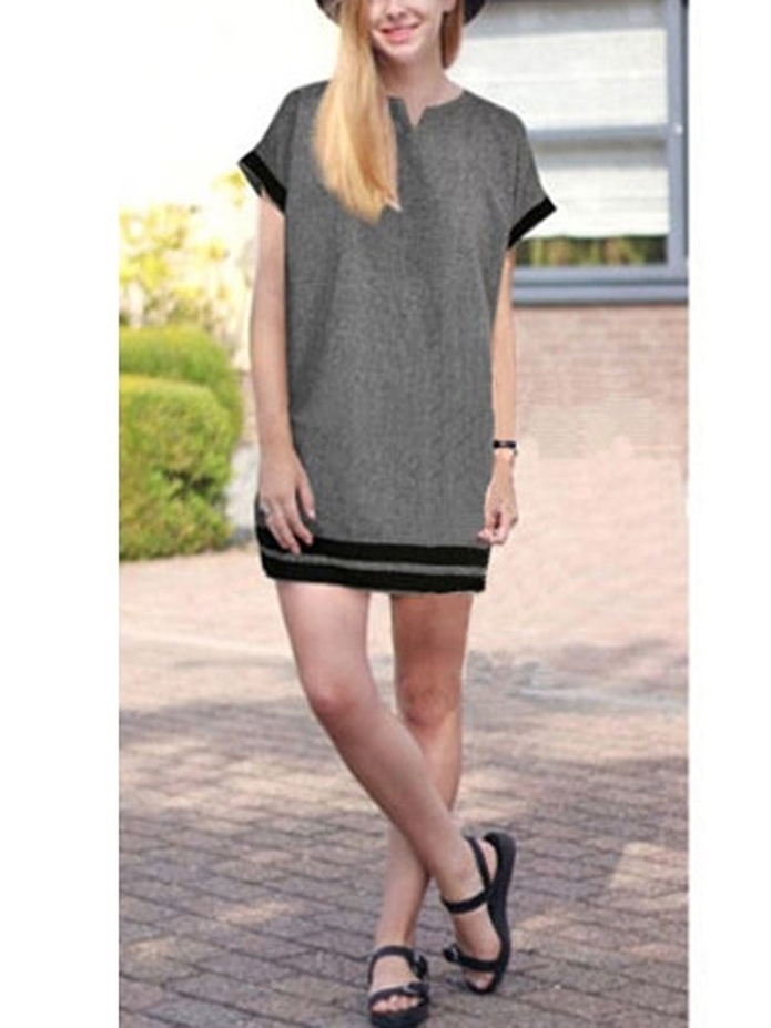 (Ready Stock XL-5XL Limited Stock) Landy V-neck Shift Dress