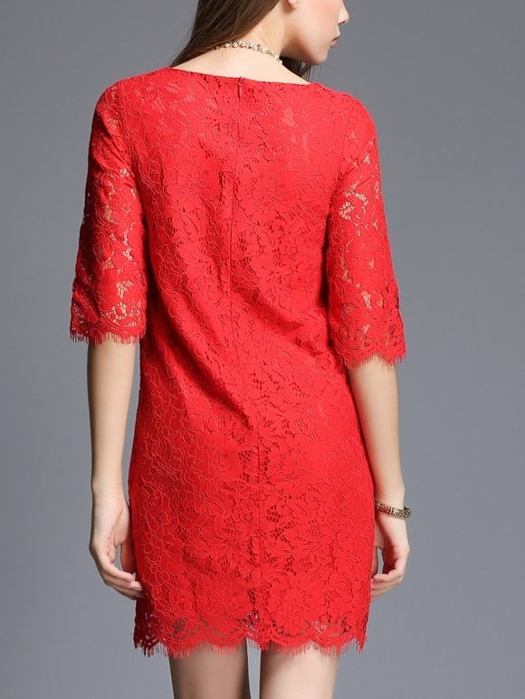 (Ready Stock 3XL *1) Enamour Shift Lace Dress