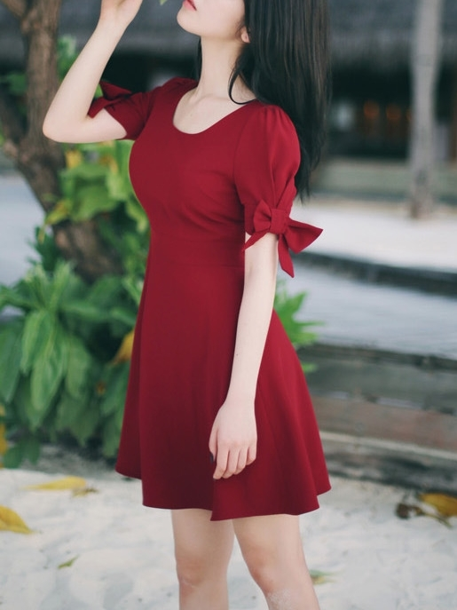 Sweetred Bow Dress