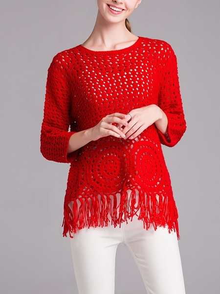 Bayley Crochet Knit Outerwear Top