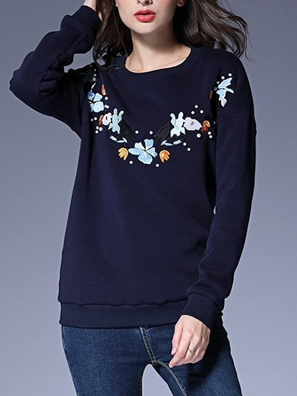 Fania Fleece-inner Pullover Top