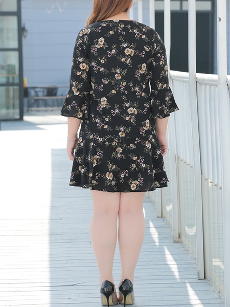 Tulles Floral Dress (EXTRA BIG SIZE)
