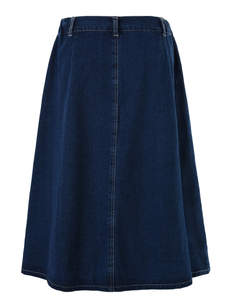 (Ready Stock XL, 2XL) Midi Denim Swing Skirt (EXTRA BIG SIZE!)