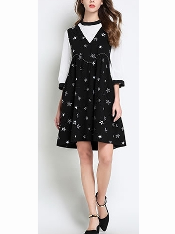 Sketch-the-Stars Printed Dress