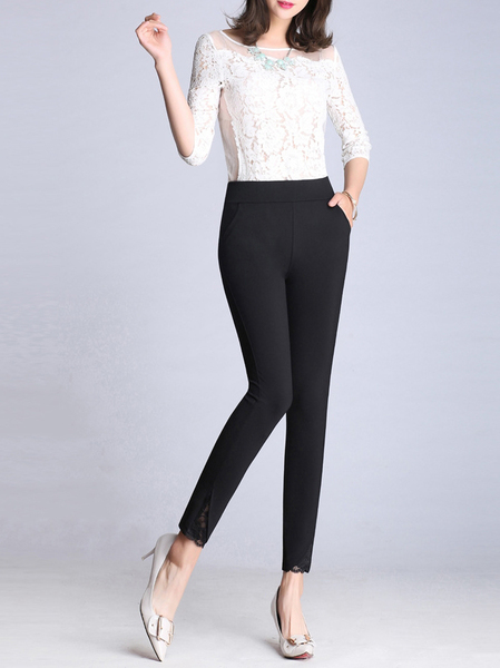 Renita Lace-design Skinny Pants (EXTRA BIG SIZE!)