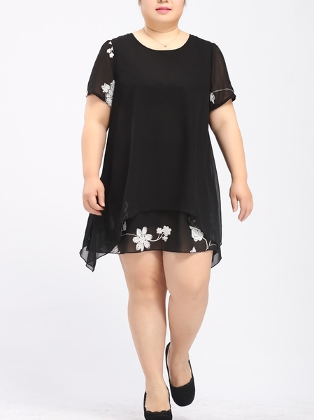 Lanna Floral Embroidery Dress (EXTRA BIG SIZE)
